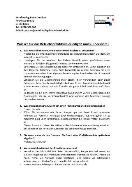 Berufskolleg Ehrenfeld Infoabende Am Bke