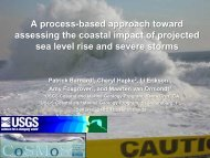 A process-based approach toward assessing the coastal impact of ...