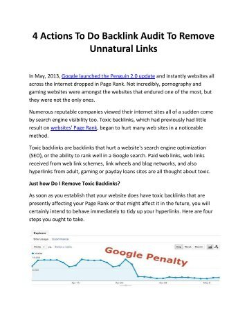 4 Actions To Do Backlink Audit To Remove Unnatural Links