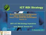 Proposed Roadmap - EuroAfrica-ICT