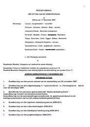 1 X 1. Goedkeuring van het proces-verbaal van de ... - Groen Diest