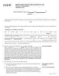 TENANCY AGREEMENT - HSR