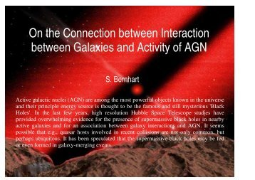 On the Connection between Interaction between Galaxies and ...