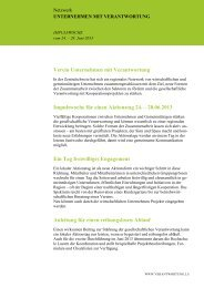 Impulswoche für einen Aktionstag 24. – 28.06.2013 - Unternehmen ...