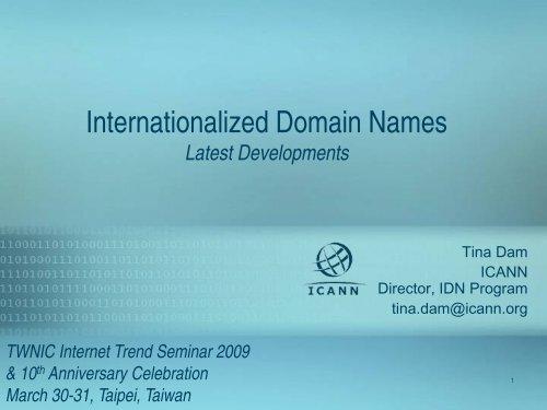 Internationalized Domain Names - icann