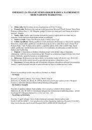 Smernice za pisanje seminarskih radova - Visoka poslovna Å¡kola ...