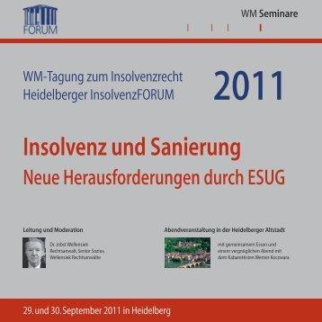 Insolvenz und Sanierung - WM Seminare