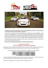 L'Autodromo di Imola offre la possibilità, oltre alla visita ... - STAI