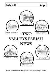 July 2011 - The Parish of Crosthwaite and Lyth