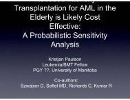 A Probabilistic Sensitivity Analysis - CBMTG