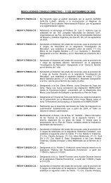 resoluciones consejo directivo – 11 de septiembre de 2003