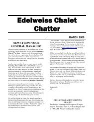 Edelweiss Chalet Chatter March 2009 - Edelweiss Chalet Country ...