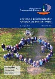 gemeindebrief_81.pdf [1.3 MByte] - Kirchengemeinde Glückstadt