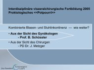 Interdisziplinäre viszeralchirurgische Fortbildung 2005