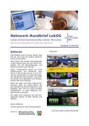 Ausgabe 2 – Rundbrief Juli 2013, PDF-Datei, 1,3 mb - Unser Quartier