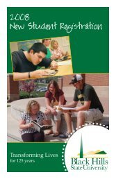 nsr booklet_with cover.indd - Black Hills State University