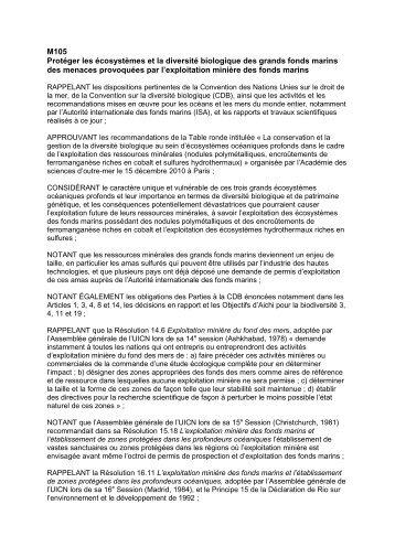 M105 Protéger les écosystèmes et la diversité ... - IUCN Portals