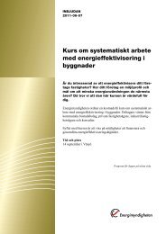 Kurs om systematiskt arbete med energieffektivisering i byggnader