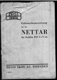 Handbuch für die Zeiss Nettar. (PDF) - Old Style Photographer