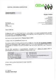 De Belgische sectie van CEDA heeft de eer u uit te nodigen op de ...