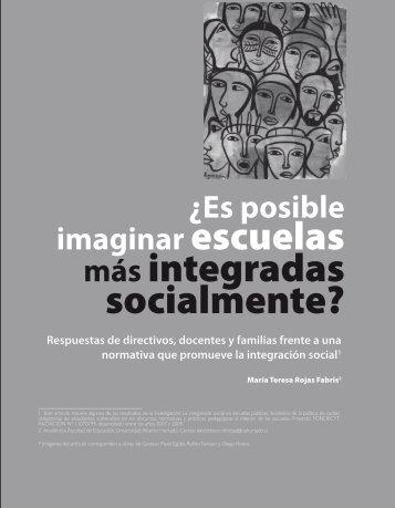 ¿Es posible imaginar escuelas más integradas ... - Revista Docencia