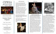 to see our summer brochure. - Opera Atelier