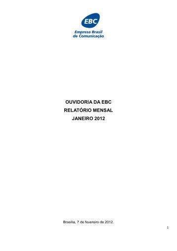 Janeiro/2012 - EBC - Empresa Brasil de Comunicação