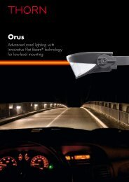 Advanced road lighting with innovative Flat Beam ... - THORN Lighting