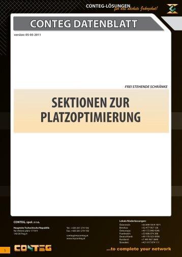 SEKTIONEN ZUR PLATZOPTIMIERUNG - Conteg