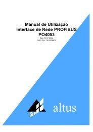 PO4053 - Interface de Rede PROFIBUS - Altus