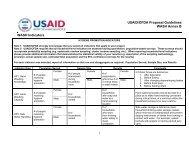 USAID/OFDA Proposal Guidelines WASH Annex B Indicators
