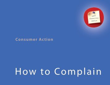 How to Complain - Consumer Action