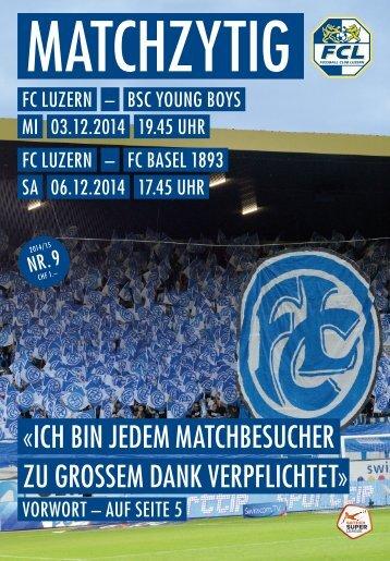 FC LUZERN Matchzytig N°9 14/15 (RSL 18)