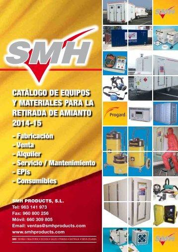 CATÁLOGO DE EQUIPOS Y MATERIALES PARA LA RETIRADA DE AMIANTO 2014-15