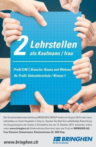 Jobangebot Lehrstelle Kaufmann/ frau