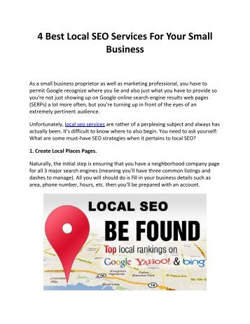 4 Best Local SEO Services For Your Small Business