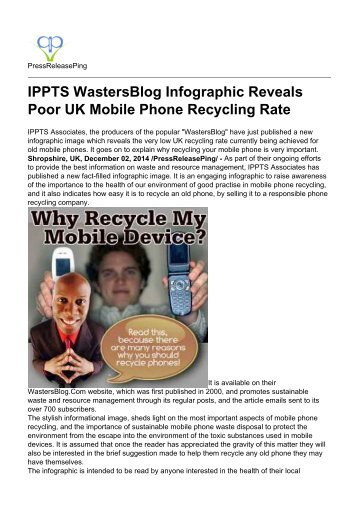 IPPTS WastersBlog Infographic Reveals Poor UK Mobile Phone Recycling Rate