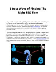 3 Best Ways of Finding The Right SEO Firm