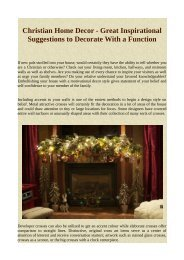 Christian Home Decor - Great Inspirational Suggestions to Decorate With a Function.pdf