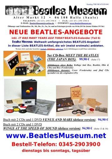 Beatles Museum - Katalog 41 mit Hyperlinks