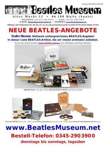 Beatles Museum - Katalog 42 mit Hyperlinks