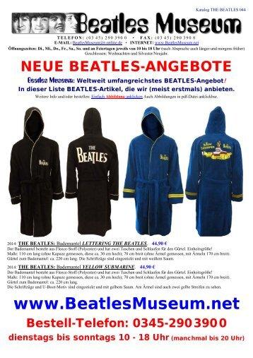 Beatles Museum - Katalog 44 mit Hyperlinks