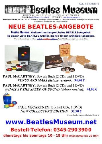 Beatles Museum - Katalog 45 mit Hyperlinks