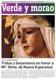 Boletín Hermandad Nueva Esperanza múm. 1 Diciembre 2014