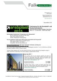 ArabPlast Fachmesse für die Kunststoff- und Kautschukindustrie
