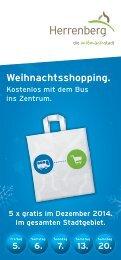 Weihnachtsshopping - Kostenlos mit dem Bus ins Zentrum
