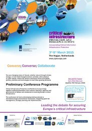 Critical Infrastructure Protection & Resilience Europe 2015 Pre-Event Guide