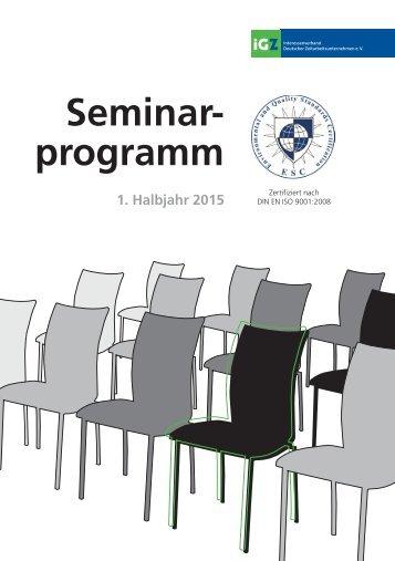 iGZ-Seminarprogramm 1-2015