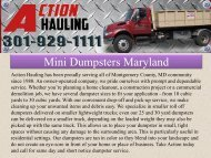 Mini Dumpsters Maryland
