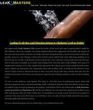 Leak Detection Services in Charleston